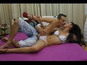 Brunette lovetofuckcpl perform anal