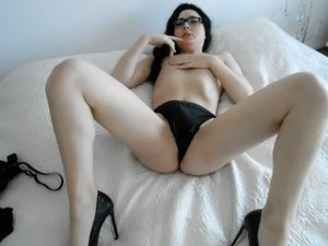 Brunette Young Shemale Karasexdoll Vibrator.